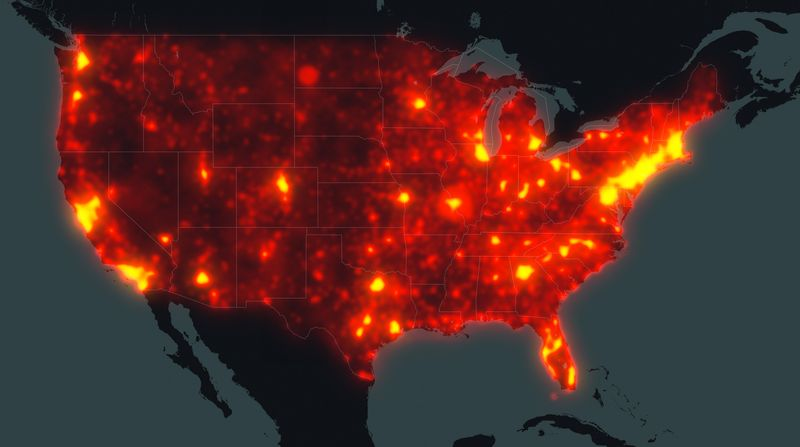 Dot-com heat map